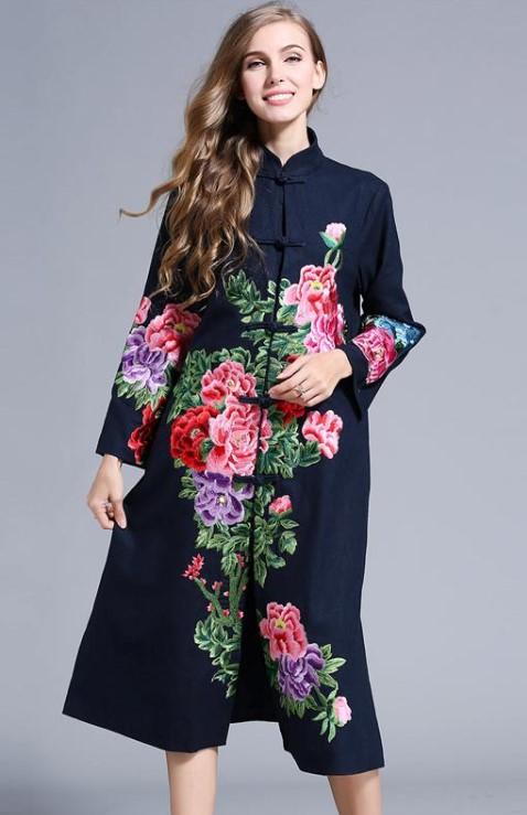 ropa flores invierno 2020